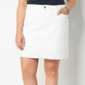 Croft & Barrow white skort shorts skirt        F